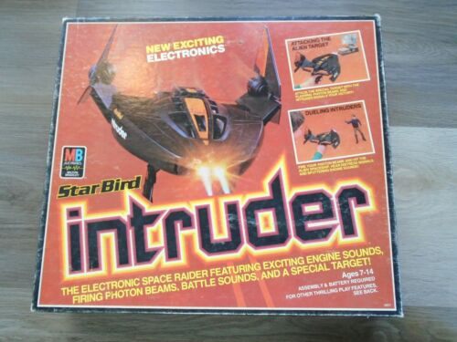 Vintage 1979 MB Milton Bradley Star Bird Intruder Toy Space Ship Work W/ Box