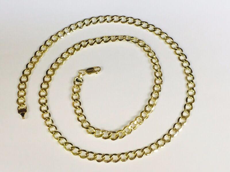 10k Gold Comfort Concave Cuban Curb Link Chain Necklace 24 6 Mm 10 Grams