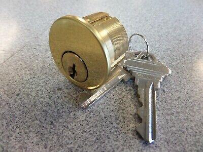 Gms M100sc3ar 5 Pin Schlage C Keyway 1 Mortise Lock Cylinder Bright Brass
