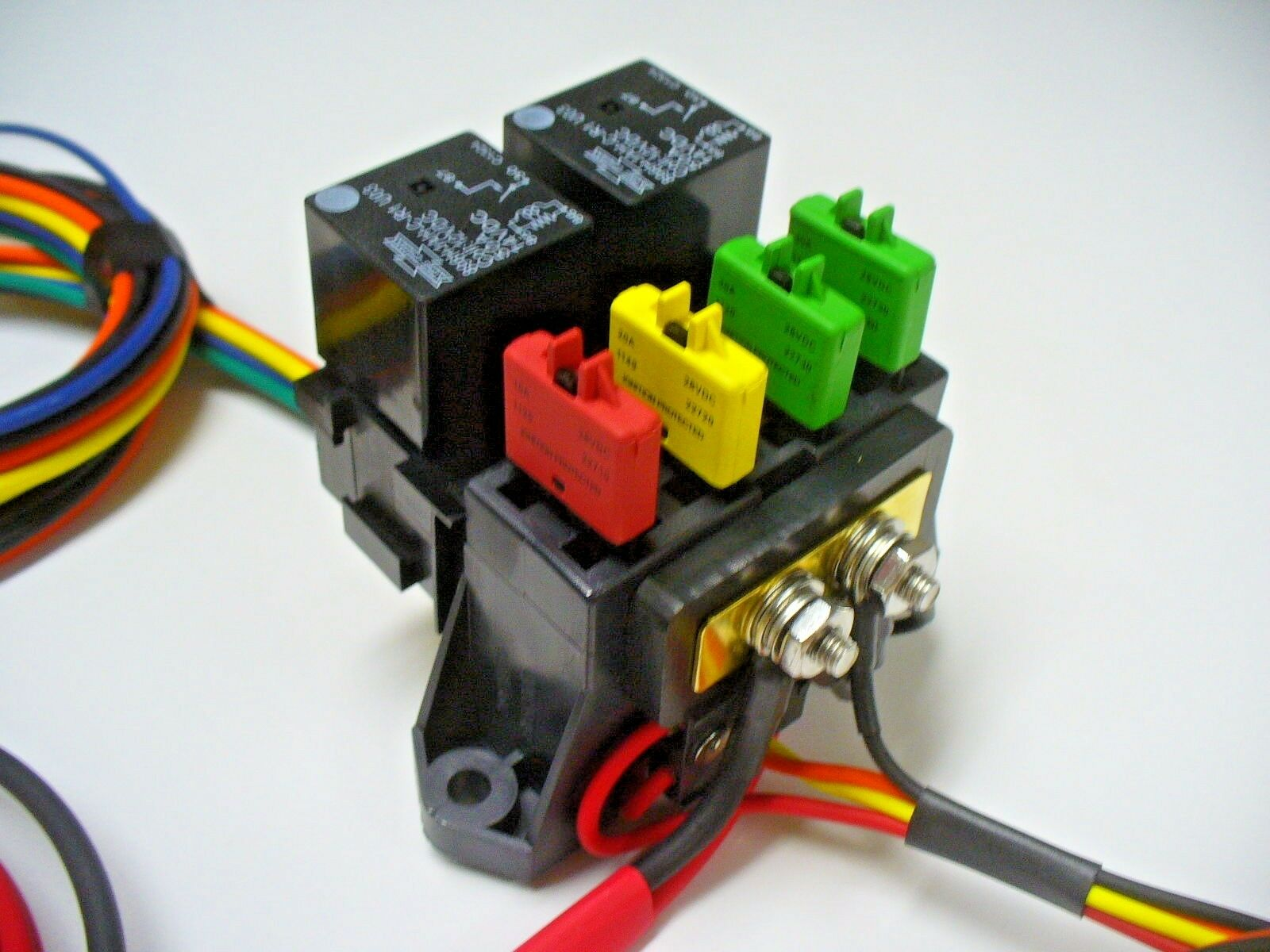 Atc 4 Way Fuse With Dual Relay Panel Block Holder Pre