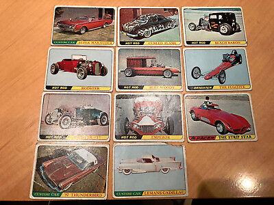 1966 Topps Hot Rods & Custom Cars  - 11 Trading Card Lot