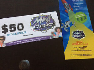 Mad science $50 Gift certi