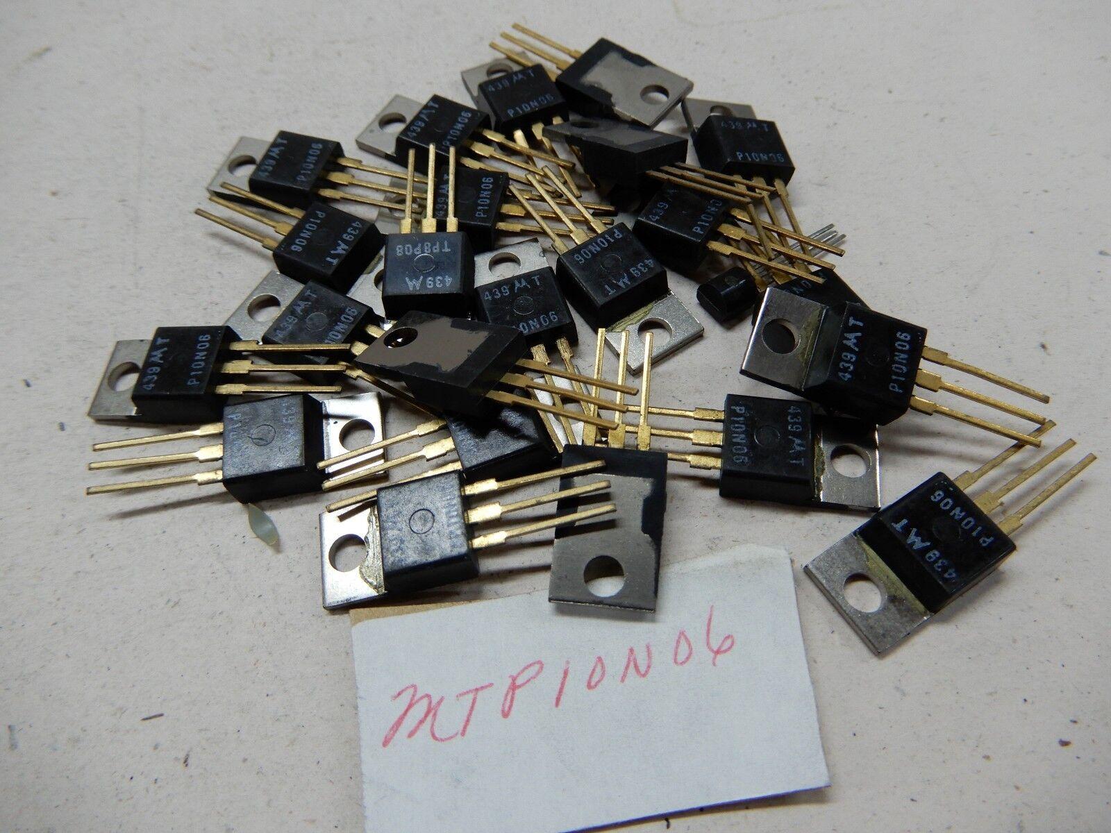 Motorola MTP10N06 Lot of 20? Transistors Gold Leads NOS BGX