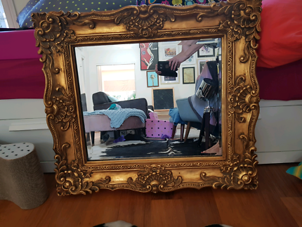 Gold style guild mirror - heavy - excellent condition
