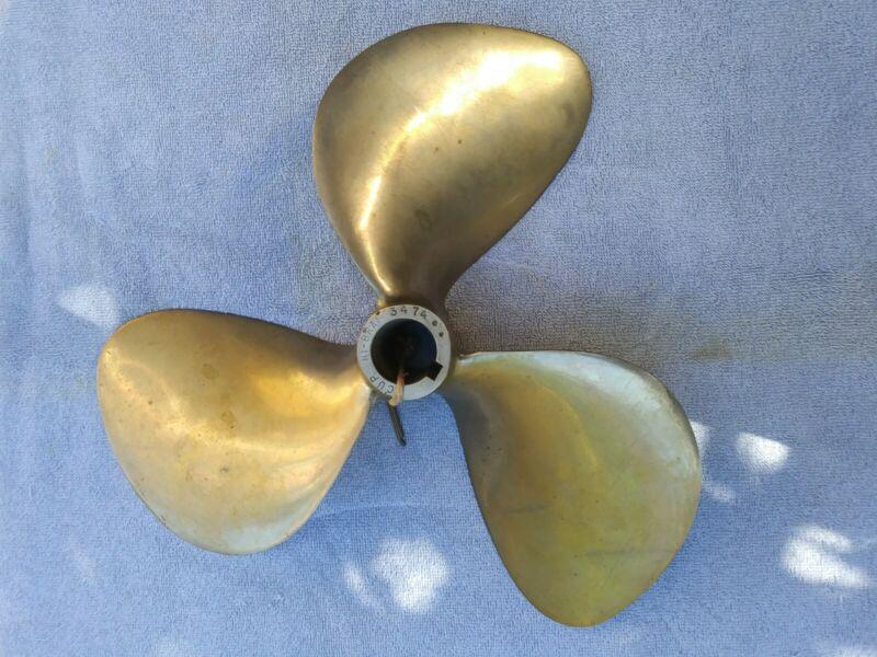 """VINTAGE CHRIS CRAFT 3474 RH Super Cup 14 X 14 Ni-Bril Prop with 1 1/4"""" bore"""