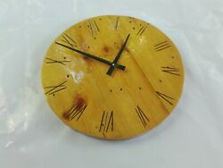 12 Large Indoor/Outdoor Natural Wooden Round Silent Wall Clock Epoxy Resin Face