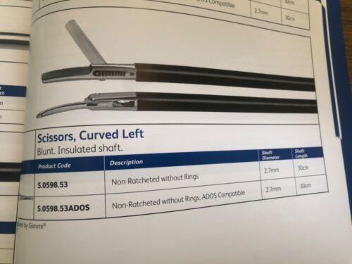 Gimmi 2.7mm, curved left scissors, ADOS compatible S.0598.52ADOS