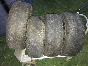4 winter tires off a Ford Crown Vic