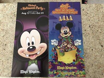 2018 Mickey's Not So Scary Halloween Party-Magic Kingdom-WDW-Park Map+Bonus](Not So Scary Halloween Party Magic Kingdom)