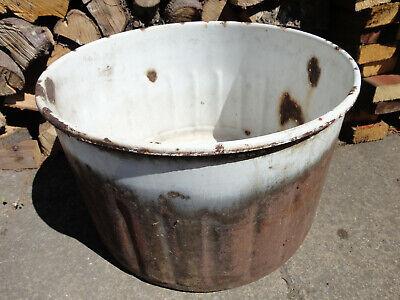 Vintage washing machine drum. Planter, water feature