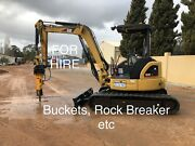 FOR HIRE CAT 4 TONNE EXCAVATOR WITH ATTACHMENTS Pickering Brook Kalamunda Area Preview
