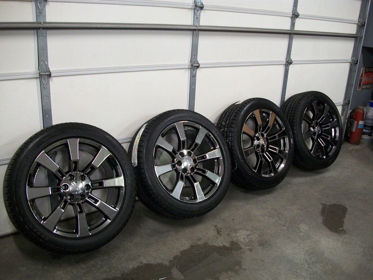 "Black Chrome CK375 22"" Wheels Chevy Cadillac Escalade Denali Tahoe Silverado"