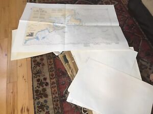 Over 50 paper charts from pei to Florida and the bahamas