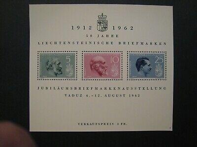 Liechtenstein S/S 1912-1962 lot of 3 MNH OG