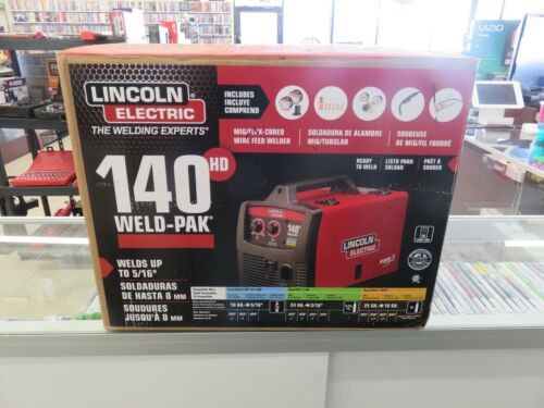 NEW Lincoln Electric 140 hd weld-pak Wire-feed Welder K2514-1