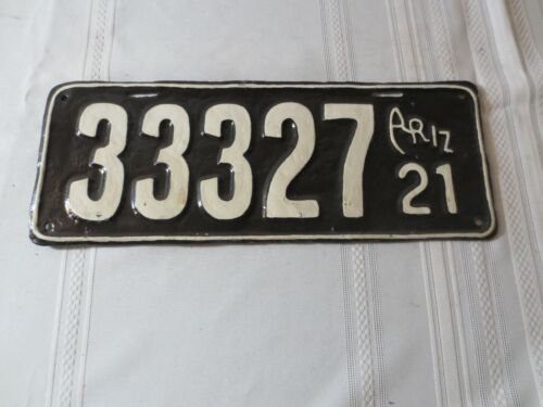 1921 ARIZONA RESTORED LICENSE PLATE 33327