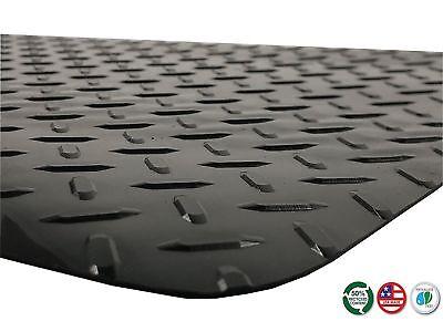 Resilia -6'  Black Diamond Plate Plastic Floor Runner/Protector