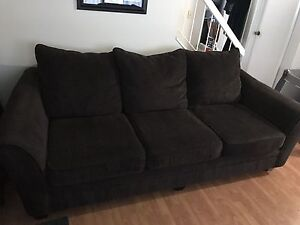Oversized sofa (chocolate brown)