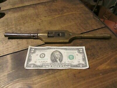Vintage Tap Handle Wrench Adjustable Machinist Tool Brass 12.5 Rare Antique