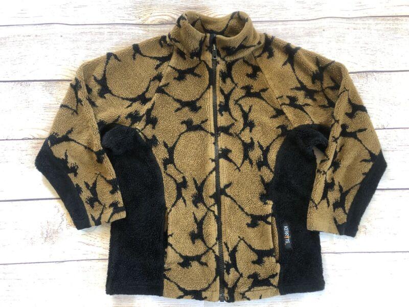 KERRITS Riding Sherpa Fleece Jacket Full Zip Size Unknown ~youth 8/10 Horses