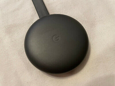 Google Chromecast Streaming Player, 3rd Gen, Charcoal, Tested, Free Shipping
