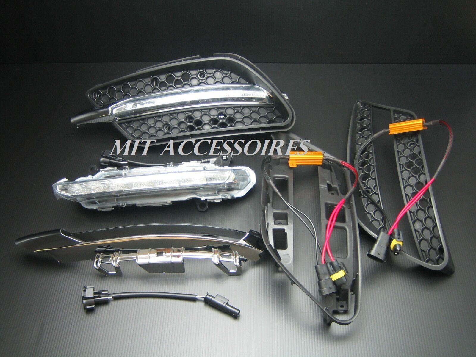 Nrpfell Car LED Fog Light DRL Daytime Running Lights for Mercedes W204 C-Class C300 AMG Sport 2007 2008 2009 2010 2011