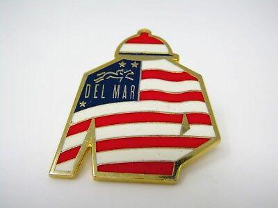 Collectible Pin: DEL MAR Jockey Uniform USA American Design Horse Racing