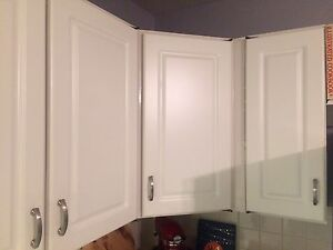 Kitchen cabinet doors and drawers.