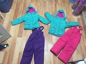 Girls size 5 winter jacket and snow pants