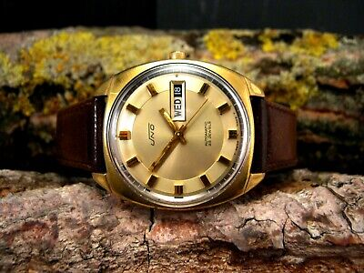 1970 Vintage UNO Automatic RETRO Sunburst Textured AS 1906 Men's 35mm Watch