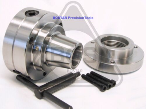 """BOSTAR  5C Collet Lathe Chuck Closer With Semi-finished Adp.2-1/4"""" x 8 Thread"""