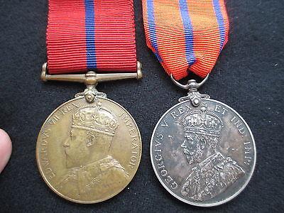 Metropolitan Police Medals. Coronation 1902 & 1911. K. Division. PC.C  Lawarence