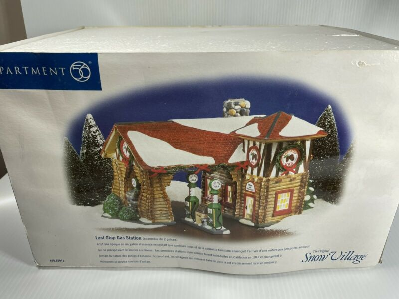 Dept56 Snow Village  Last Stop Gas Station