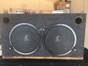 """10"""" kicker subs in ported box"""