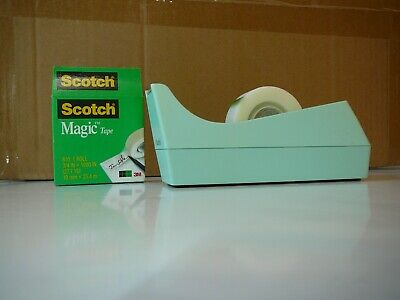 3m Scotch C-38 Desk Tape Dispenser Seafoam Green Made In Usa Vintage Rare Color