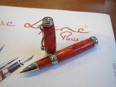Jean-Pierre Lepine Indigo IN46RS orange marble resin Rollerball pen MIB
