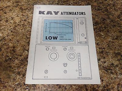 Kay Elemetrics Attenuators Published 1976 Issue A