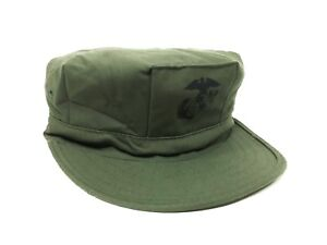 742eca884e9 USMC 8 POINT COVER OLIVE DRAB WITH EGA SATEEN Size 7(Small)