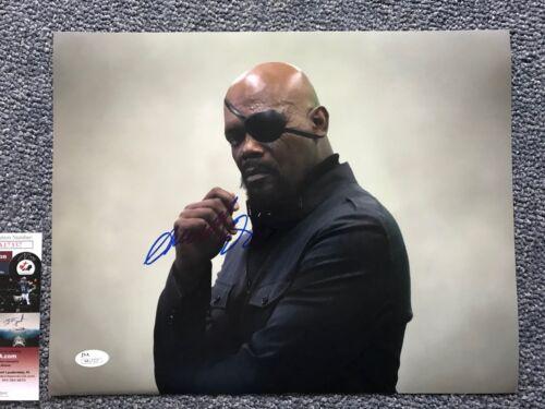 Avengers Nick Fury Samuel L Jackson Autographed Signed 11x14 Photo JSA COA #4