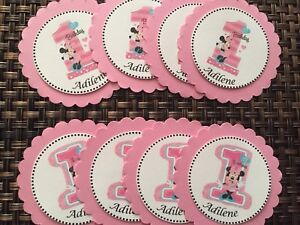 12 Minnie Mouse #1 Cupcake Toppers