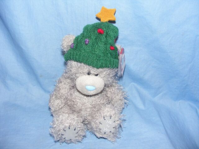 Me To You  Tatty Teddy Blue Nose Bear Green Hat Christmas G01W3717 Gift Present