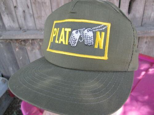 PLATOON Vintage 1986  OLIVER STONE Film Crew Promo Baseball Cap Hat VIET NAM WAR