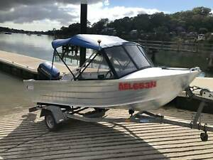 Ally craft 4 metre alloy runabout 40hp Evinrude 1996 trim and tilt