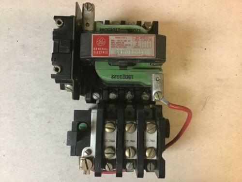 General Electric GE CR208B100AGE Size 0 Motor Starter With 120 Volt Coil