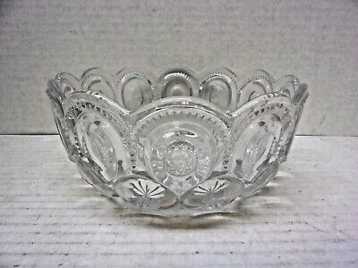 Vintage Moon And Stars Clear Serving Bowl
