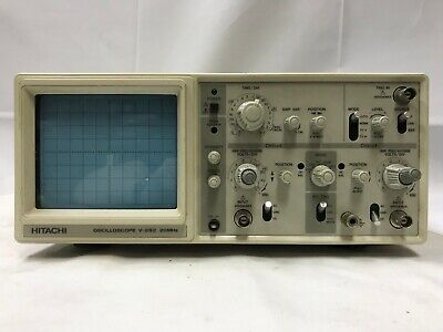 Hitachi V-252 20mhz 2 Channel Bench Lab Oscilloscope Works Great