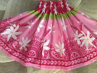 "White Hula Skirt (NEW PINK WHITE TIARE HAWAIIAN PAU PA'U  HULA SKIRT  28"" LONG MADE IN)"