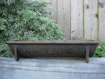Small Antique  Cast Iron Trough Bird Feeder /   Garden Planter  (1014)