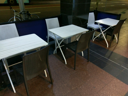outdoor table chairs outdoor dining furniture gumtree