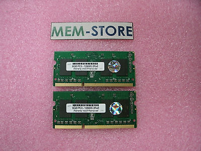 16GB 2x8GB DDR3 SODIMM PC3-12800 1600MHz for Apple A1278 A1286 A1418 A1419